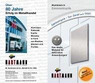 Form von Blechen, Bändern und Profilen - W.Hartmann & Co.