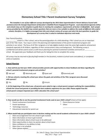 Title i parent involvement policy moody high school for Parent involvement plan template