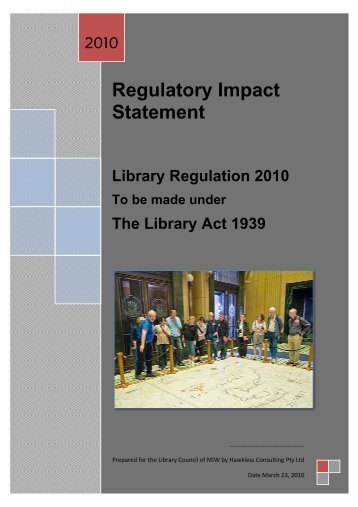 Library Regulation 2010 - State Library of New South Wales - NSW ...