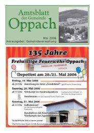 Mai 2006 Herausgeber: Gemeindeverwaltung - Oppach