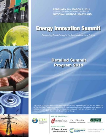 2011 Detailed Summit Program Pdf - Clean Technology and ...