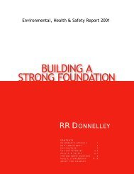 RRD EHS Report - RR Donnelley