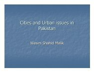 Cities and Urban issues in Pakistan - Pakistan Institute of ...