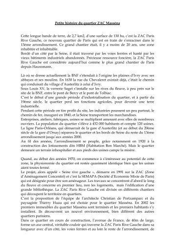 ZAC Masséna - Créer son blog