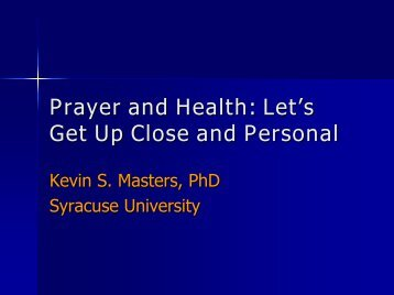 Kevin S. Masters, PhD