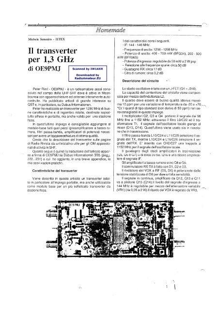 transverter 1296 di oe9pmj - RadioManual eu