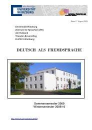 Broschüre WS 09/10 - Zentrum für Sprachen - Universität Würzburg