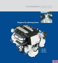 Engines for planing boats - Volkswagen Marine