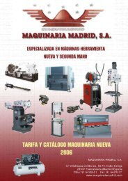 Taladros fresadores - Maquinaria Madrid