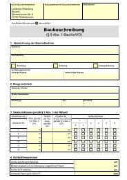 Baubeschreibung - Landkreis Oldenburg