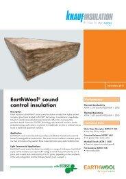 EarthWool® sound control insulation - Knauf Insulation New Zealand