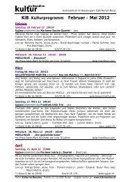 KiB- Kulturprogramm Februar – Mai 2012 - KiB, Kultur im Beaulieu ...