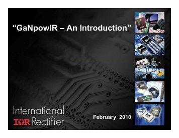 Introduction to GanPowIR
