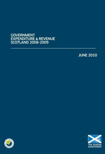 Government Expenditure & Revenue Scotland 2008-2009 - Scottish ...