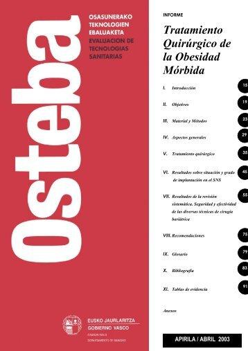 Tratamiento Quirúrgico de la Obesidad Mórbida - Euskadi.net