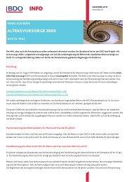 Altersvorsorge 2020 (3. Teil)