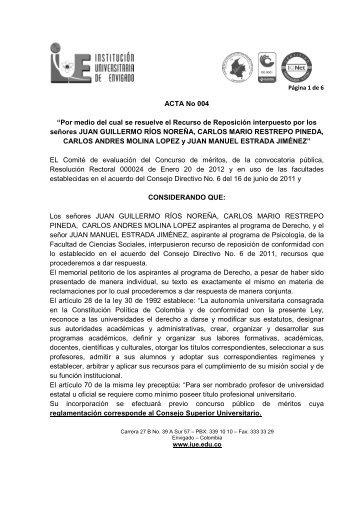 Descargar Acta N° 4 - Institución Universitaria de Envigado