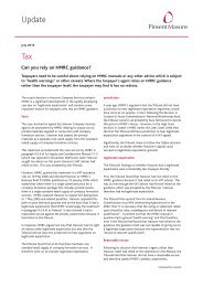 Tax - Can you rely on HMRC guidance - Jul 10:1.qxd - Pinsent Masons