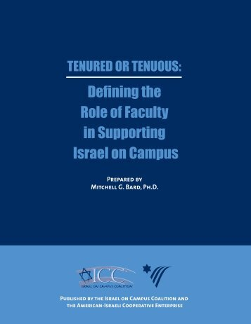 Defining the Role of Faculty in Supporting Israel on Campus