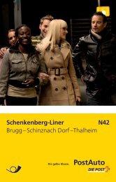 Schenkenberg-Liner, Fahrplan, N42 - Postauto