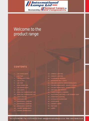 Welcome to the product range - National Lamps and Components