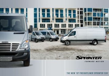 the new '07 freightliner sprinter cuv