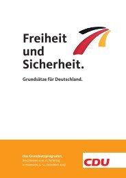 Freiheit und Sicherheit. Grundsätze für Deutschland. Das - CDU Saar