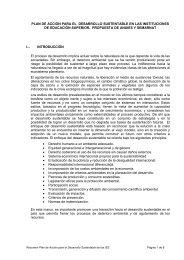 Plan de Acción sobre Desarrollo Sustentable en las Instituciones de ...