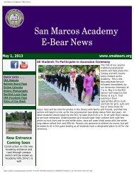 Academy E-Bear News 05/01/13 Edition - San Marcos Academy