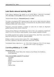 Zpravodaj CVS 2005 - 1 - Česká vakuová společnost
