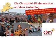 Die Christoffel-Blindenmission auf dem Kirchentag