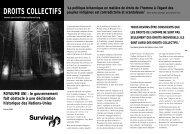 DROITS COLLECTIFS - Survival International