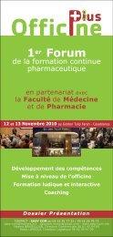 1er Forum - Pharmacies.ma