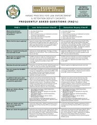 HIRING PROCESS FOR LAW - Broward Sheriff's Office
