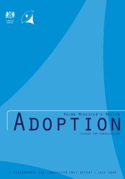 Prime Minister's review of Adoption - Digital Education Resource ...