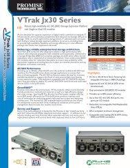 PROMISE VTrak Jx30 Series Datasheet - PROMISEWorks.com