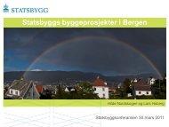Statsbyggs byggeprosjekter i Bergen
