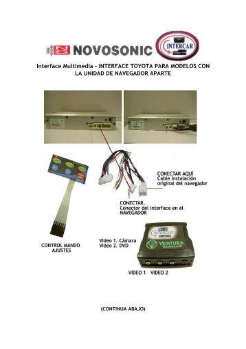 Interface Multimedia – INTERFACE TOYOTA PARA ... - Novosonic