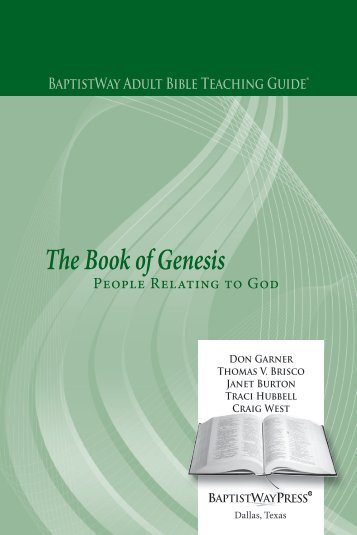 The Book of Genesis: People Relating to God - BaptistWay Press