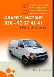 GRAFFITI NOTRUF 030 - colourclean Berlin