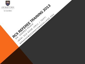 Online Referee Training - STLP