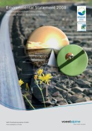 Environmental Statement 2008 (5.77 MB) - voestalpine