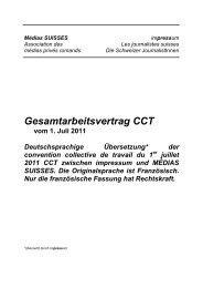 Presse Romandie: CCT 2011, Übersetzung in Deutsch