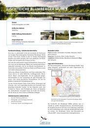 Fischteiche Blumberger Mühle - NABU-Stiftung Nationales Naturerbe