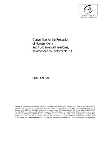 protection of human rights and fundamental This document contains the following information: protocol no 13 to the convention for the protection of human rights and fundamental freedoms.