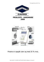 Deler og beslag Hardware, tilbehør til 19