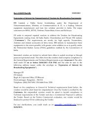 Ref: COR/PP/EoI-BE 23/05/2013 Expression of Interest ... - ITI Limited