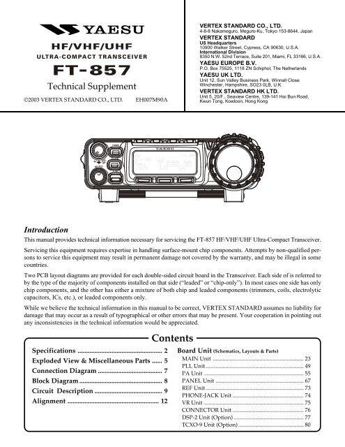 Yaesu - FT-857 Service manual - IW2NMX on