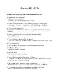 Training QA - PCB - Schulen in Regensburg