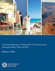 National Summary of Statewide Communication Interoperability Plans